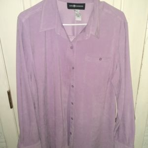 Sab Harbor Lilac Buttoned Blouse - Size 16
